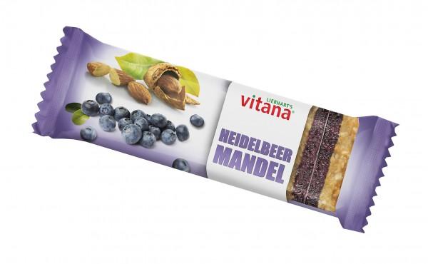 Bio Heidelbeer-Mandel-Fruchtschnitte